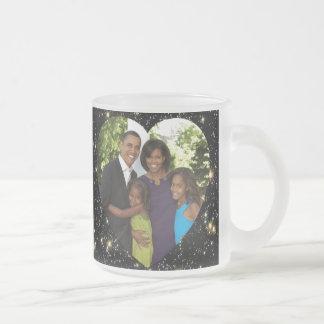 Presidente Obama Photo Collectibles Frosted Taza De Café