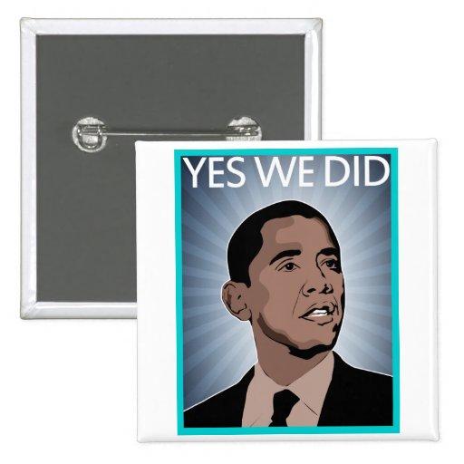 Presidente Obama Pin Cuadrado