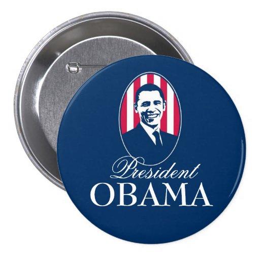 Presidente Obama Pin Redondo 7 Cm