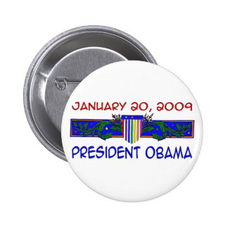 Presidente Obama Pin Redondo De 2 Pulgadas