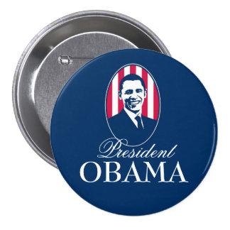 Presidente Obama Pin Redondo De 3 Pulgadas