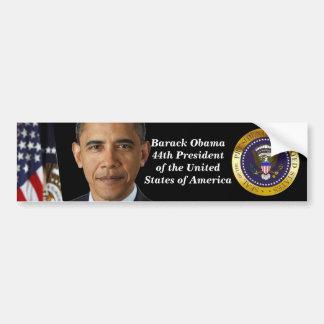 Presidente Obama Portrait, pegatina para el parach Pegatina De Parachoque