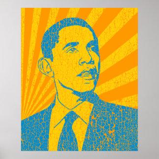 Presidente Obama Poster del vintage