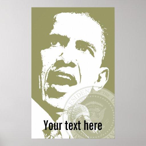 Presidente Obama - poster - plantilla