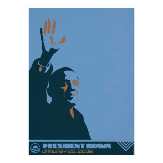 Presidente Obama Print Poster