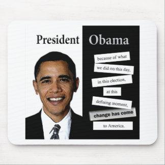 Presidente Obama Quote Alfombrillas De Ratón