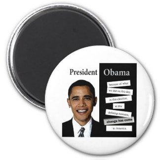 Presidente Obama Quote Imán Redondo 5 Cm
