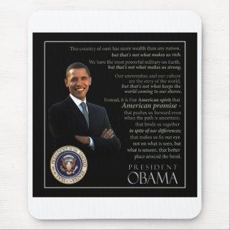 Presidente Obama Quote Alfombrilla De Ratón