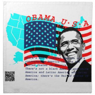 Presidente Obama Servilleta Imprimida