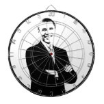 Presidente Obama Stencil Tabla Dardos