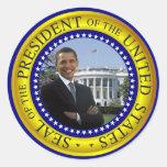 Presidente Obama Stickers - modificado para Pegatina Redonda