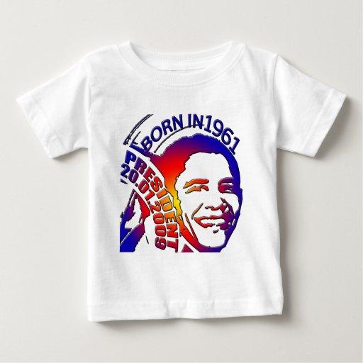 ¡Presidente Obama T-Shirts! Playera De Bebé