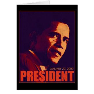 Presidente Obama Tarjeta De Felicitación