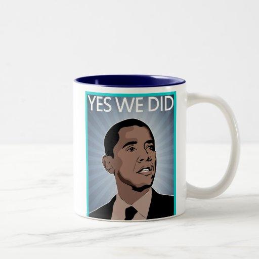 presidente obama taza de dos tonos