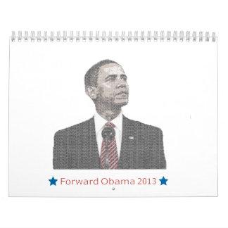 Presidente Obama Text Portrait Calendario De Pared