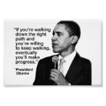 Presidente Obama/trayectoria derecha Poster