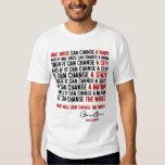 Presidente Obama: Una voz puede cambiar el mundo Camisas