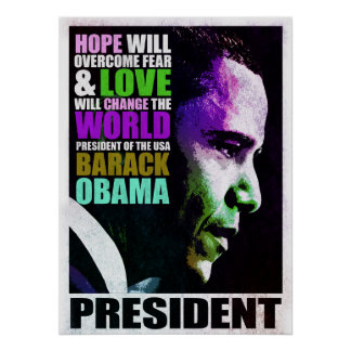 Presidente Obama VIntage Poster Póster