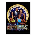 Presidente Obama y primera postal de la familia