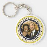 Presidente Obama y primera señora Michelle Llavero Personalizado