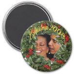 Presidente Obama y recuerdo 2008 del navidad de Mi Imanes Para Frigoríficos