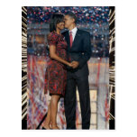 Presidente Obama y recuerdo de Michelle Tarjeta Postal