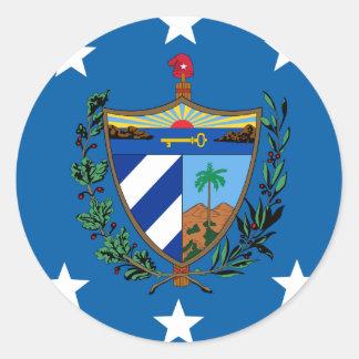 Presidente Of Cuba, Croacia Pegatina Redonda