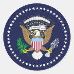 Presidente Of The los Estados Unidos de América, Pegatina Redonda