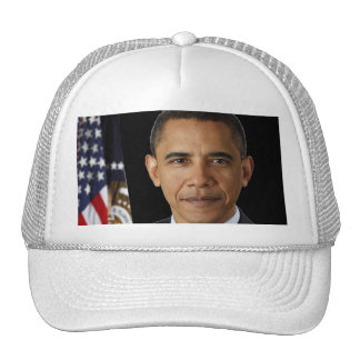 Presidente oficial Barack Obama, bk negro del retr Gorros Bordados