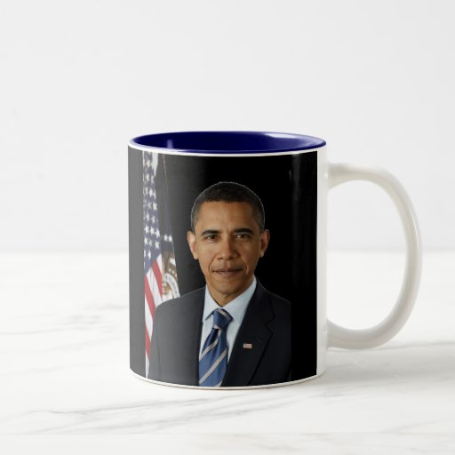 Presidente oficial Barack Obama, bk negro del Taza De Dos Tonos