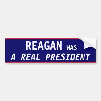 Presidente REAL de Reagan Etiqueta De Parachoque