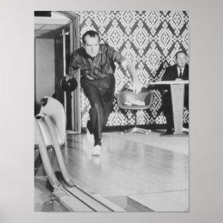 Presidente Richard Nixon que rueda en la Casa Blan Poster
