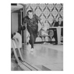 Presidente Richard Nixon que rueda en la Casa Blan Póster