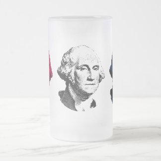 Presidente rojo, blanco, y azul Washington Taza De Cristal