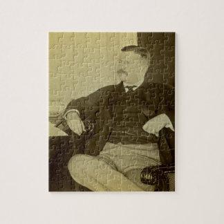 Presidente Roosevelt en su escritorio en Casa Blan Puzzle Con Fotos