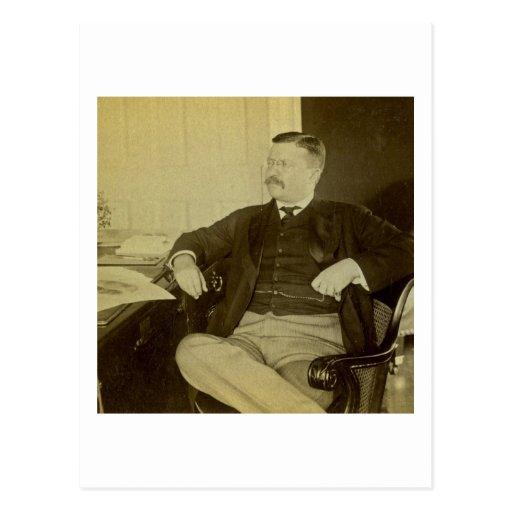 Presidente Roosevelt en su escritorio en Casa Blan Postales