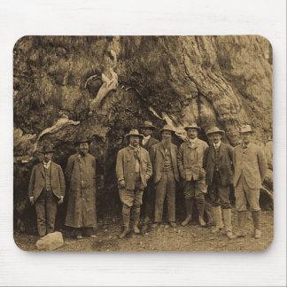 Presidente Roosevelt y John Muir debajo de (sepia) Alfombrillas De Ratón