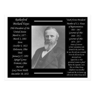Presidente Rutherford B Hayes Tarjeta Postal