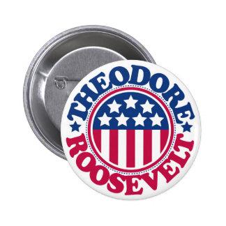 Presidente Theodore Roosevelt de los E.E.U.U. Pin Redondo De 2 Pulgadas