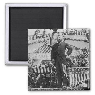 Presidente Theodore Roosevelt en Wyoming Imán Cuadrado