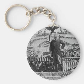 Presidente Theodore Roosevelt en Wyoming Llavero Redondo Tipo Pin
