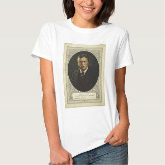Presidente Theodore Roosevelt por la litografía de Camisas