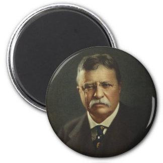 Presidente Theodore Roosevelt por la litografía de Imán Redondo 5 Cm