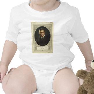 Presidente Theodore Roosevelt por la litografía de Trajes De Bebé