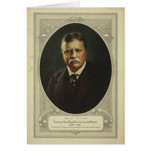 Presidente Theodore Roosevelt por la litografía de Felicitaciones