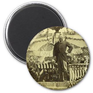 Presidente Theodore Roosevelt que habla 1903 Imán Para Frigorifico