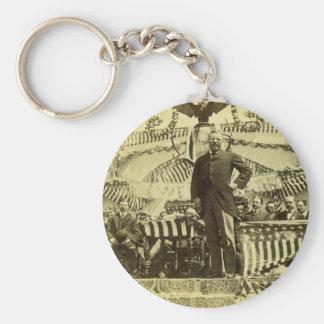 Presidente Theodore Roosevelt que habla 1903 Llaveros