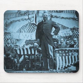 Presidente Theodore Roosevelt que habla en Wyoming Tapete De Ratones