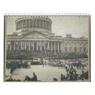 Presidente Theodore Roosevelt que toma juramento Calendario De Pared