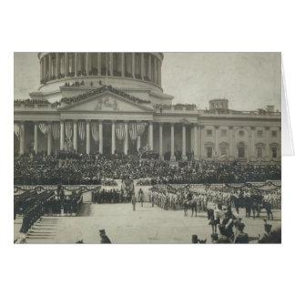 Presidente Theodore Roosevelt que toma juramento d Tarjeta De Felicitación